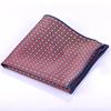 red plaid silk pocket square