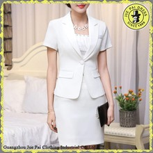 Short sleeve white office lady uniform