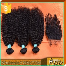 Free shipping lace closure,6A grade afro kinky curly lace closure