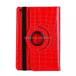 Rotating case for ipad mini 4 flip stand case crocodile leather case cover