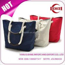 China Manufacturer Cotton shopping bag Fashion beach bag Canvas tote bag