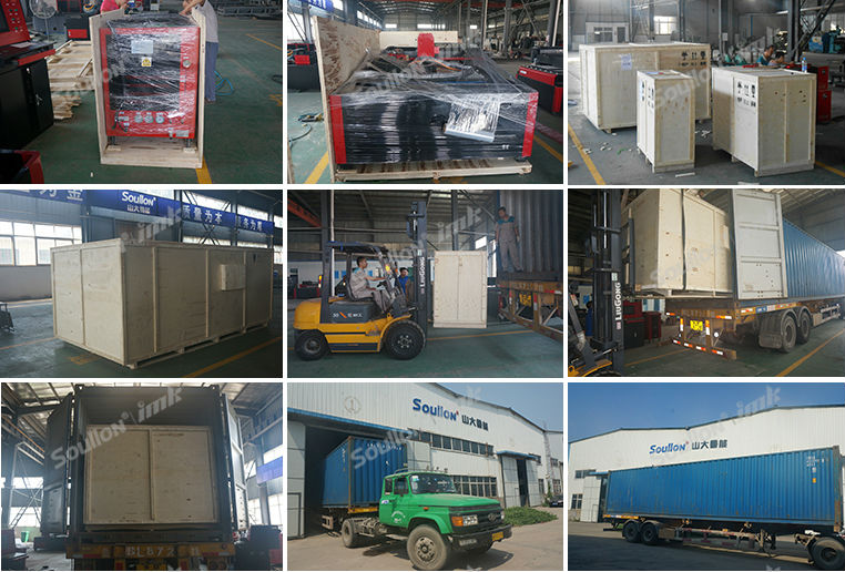 yag laser cutting machine part packing and shipping
