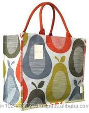 reusable eco friendly jute shopping bag