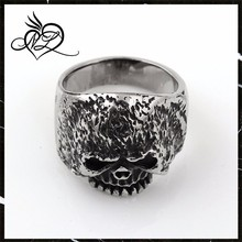 2015 hot new products wholesale fashion jewelry 316L stainless steel fire skull ring