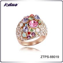 Embellishment colorful weeding rings design for women