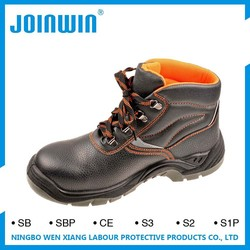 Anti-Puncture Slip Anti Static Split Embossed Leather Safety Boots
