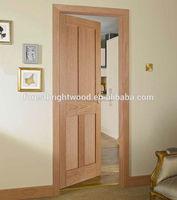 Mahogany veneered 4-panel shaker interior doors