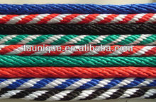 Cotton braided horse Lead ropes with trigger snap