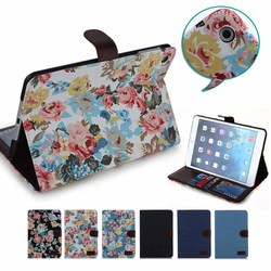Flower Pattern case for ipad mini, for ipad mini jeans cases