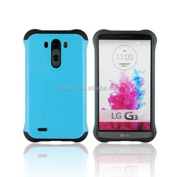 2015 Mobile Phone TPU + PC Case Hybrid Super Cool 2 in 1 Slim Armor Case For LG G3