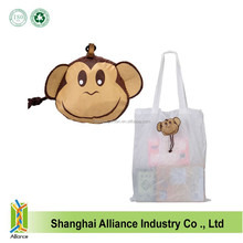 Cute Monkey Animal Bag Foldable Storage Eco Reusable Shopping Bag