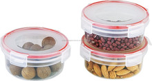 3PK SQUARE/ROUND CLIP&LOCK STORAGE SHRINK WRAPPED