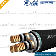 3+2 cores 3 * 16/ 25/ 35/ 50/ 70/ 95/ 120/ 150/ 185/ 240 mm sq XLPE insulation Aluminum conductor power cable
