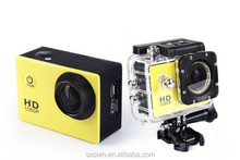Factory price 2 inch screen mini dv camera full HD 1080p special outdoor waterproof extreme sports action video camera
