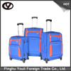 With muti bright color trolley travel luggage with big wheels
