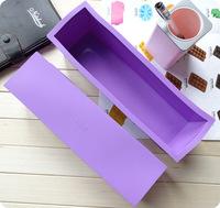 дырку прямоугольник силиконовые торт плесень мыло плесень Тост/хлеб/торт укладки инструментов торт Пан высокое качество