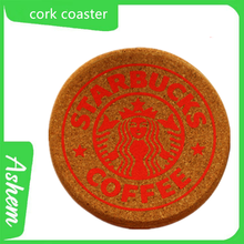 Red coaster customized high quality cork red coaster with hotel Logo printing AS-141