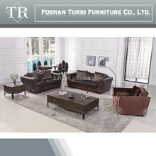 Hot sell sofa set designs living room furniture feather filling sofa H963