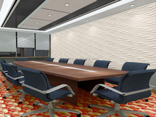 3d effect wallcovering for meeting room