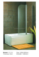 Super Popular Folding Bathtub Frameless Tempered Glass Shower Bath Screen