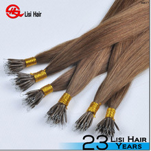 2015 New Arrival Keratin Glue Most Popular Remy Brand Name nano ring hair extensions no split ends
