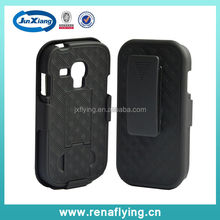 hot selling belt clip phone case for Samsung galaxy S3 mini with kickstand
