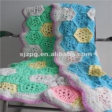 crochet handmade blankets , crochet knitted cotton blanket