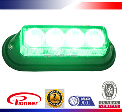 10-30v green led warning strobe light for police motorcycle, surface mount, waterproof