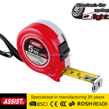 assist brand water proof 5m ABS quality plastic promotional best steel abs tape measuring