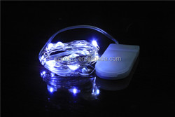 20 LEDS White Starry Silver String Light With CR2032 Batteries Case