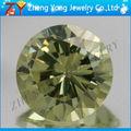forma redonda de color amarillo de oliva preciosas piedras preciosas