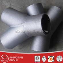 ASME sch40 45 degree butt weld y tee pipe fitting