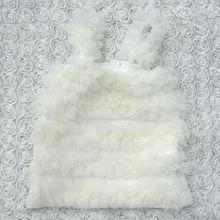2015 yiwu wholesale new style white ruffle petti tops for kids