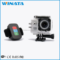 2.0 WiFi Full HD 1080P Sports Wireless Camera With Waterproof Case and Remote Controller