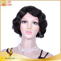Crochet Braid Remy Wave Human Hair Short Bob Lace Front Wig