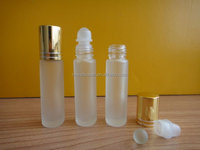 8ml frosted roll on oil glass bottle with aluminum cap