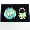 Butterfly shape gifts make yourself mirror and purse hook set