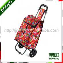 leisure supermarket shopping cart/bag aluminum shopping cart bag