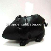 OEM stuffed animal tissue case,car tissue box holder,plush tissue box cover