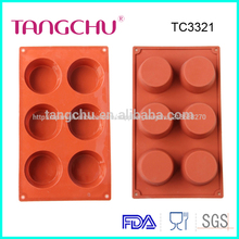 Forma redonda de silicona molde para hornear moldes de chocolate Decoracion torta herramientas