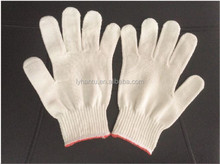 cotton gloves with pokyester outside and cotton inner