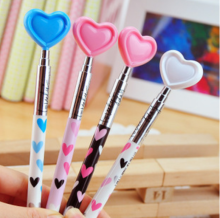 Plastic heart ball pen