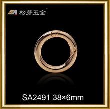 Song A metal custom zinc alloy o ring belt buckles for handbag