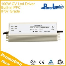 IP67 Grade 100W 48V Constant Voltage Led Driver with Built-in Active PFC
