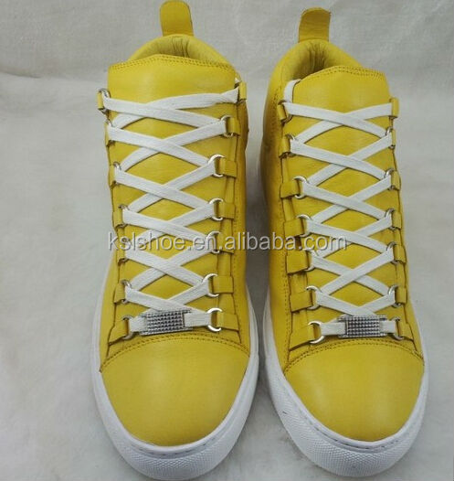 High Quality Trainer Arena High Top Sneakers For Men Tone Rubber Lace-up Sport Shoes For Men Size 39-46