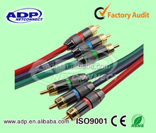 3 RCA to 3RCA cable male to male VGA RCA