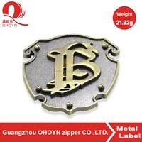 custom logo nickel rectangle engrave metal logo