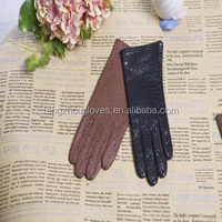 fashion sheep leather sheel women leather glove hollow out leather gloves 2015 new collection