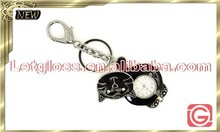 New zinc alloy Cat shaped removable travel keyring watch