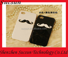 Customized moustache design phone jewelry case for iPhone 5 6 6plus black and white